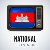 Nationale Televisie Stock Foto's
