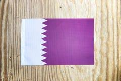 Nationale textielvlag op houten lijst Royalty-vrije Stock Fotografie