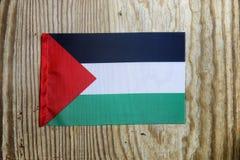 Nationale textielvlag op houten lijst Royalty-vrije Stock Afbeelding