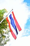 Nationale Thaise vlag Stock Foto