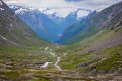 Nationale toeristenweg, Noorwegen Stock Afbeelding
