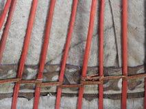 Nationale traditionele decoratie van het plafond en de muren van Mongoolse Yurt Uitstekende weefselpatronen De decoratie van Yurt stock afbeelding