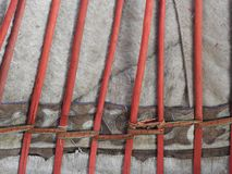 Nationale traditionelle Dekoration der Decke und der W?nde des mongolischen Yurt Weinlesewebartmuster Die Dekoration des Yurt stockbild