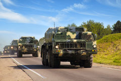 Nationale veiligheid. Militaire voertuigen Royalty-vrije Stock Foto's