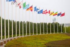 Nationale vlag Stock Fotografie