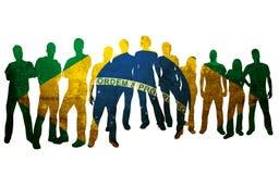 Nationale vlag Brazilië Stock Afbeeldingen