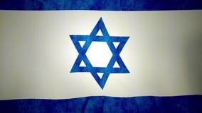 Nationale vlag die van Israël in wind golven stock footage