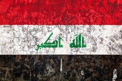 Nationale vlag op de achtergrond van de oude muur royalty-vrije stock fotografie