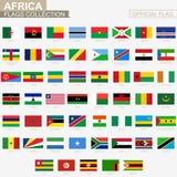 Nationale vlag van Afrikaanse landen, officiële vectorvlaggeninzameling vector illustratie