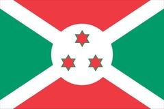 Nationale vlag van Burundi Royalty-vrije Stock Foto's