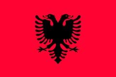 Nationale vlag van de staat van Albanië vector illustratie