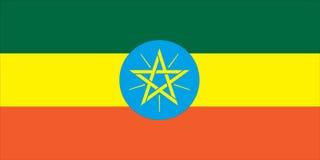 Nationale vlag van Ethiopië Royalty-vrije Stock Foto's