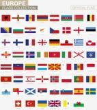 Nationale vlag van Europese landen, officiële vectorvlaggeninzameling vector illustratie