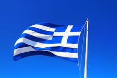 Nationale vlag van Griekenland Stock Foto's