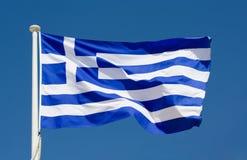 Nationale vlag van Griekenland Stock Foto
