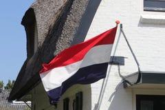 Nationale vlag van het Koninkrijk van Nederland stock afbeelding