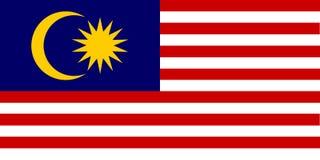 Nationale vlag van Maleisië Achtergrond met vlag van Maleisië stock illustratie