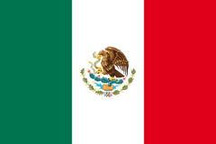 Nationale vlag van Mexico stock illustratie