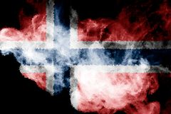 Nationale vlag van Noorwegen vector illustratie