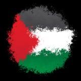Nationale vlag van Palestina Royalty-vrije Stock Afbeeldingen