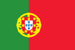 Nationale Vlag van Portugal stock illustratie