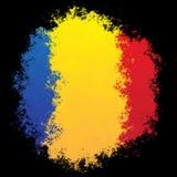 Nationale vlag van Roemenië Stock Afbeeldingen