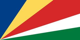 Nationale vlag van Seychellen Achtergrond met vlag van Seychellen vector illustratie