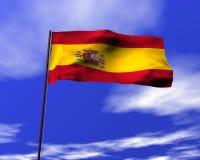 Nationale vlag van Spanje Stock Afbeeldingen