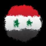 Nationale vlag van Syrië Stock Afbeelding