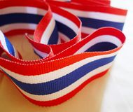 Nationale vlag van Thailand Royalty-vrije Stock Afbeeldingen
