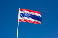 Nationale vlag van Thailand Royalty-vrije Stock Foto's