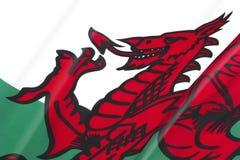 Nationale vlag van Wales Stock Afbeeldingen