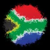 Nationale vlag van Zuid-Afrika Stock Afbeelding
