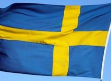 Nationale vlag van Zweden Royalty-vrije Stock Afbeeldingen