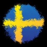 Nationale vlag van Zweden Royalty-vrije Stock Foto's