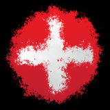 Nationale Vlag van Zwitserland Royalty-vrije Stock Foto