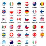 Nationale vlagbal van de leden van OESO Stock Afbeeldingen