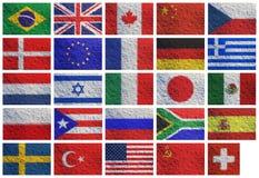Nationale vlaggen Royalty-vrije Stock Afbeeldingen