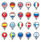 Nationale Vlaggen Royalty-vrije Stock Foto