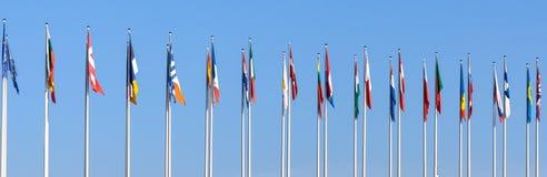 Nationale vlaggen van de Europese landen royalty-vrije stock foto's