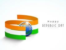 Nationale vlagstrepen met ashokawiel voor de Indische Dag van de Republiek Royalty-vrije Stock Foto's