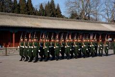 Nationale vlagwachten Stock Foto