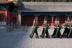 Nationale vlagwachten Royalty-vrije Stock Foto