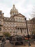 Nationale Wacht bij het Stadhuis van Baltimore Stock Afbeeldingen