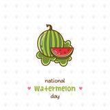 Nationale Watermeloendag Vector illustratie Stock Foto