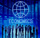 Nationalekonomi Korporation för företag för global affär begrepp royaltyfri foto
