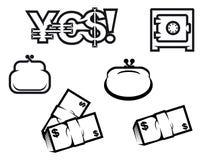 nationalekonomifinanssymboler Royaltyfri Foto