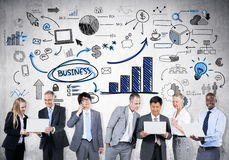 Nationalekonomitrend Arkivfoto