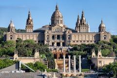 Nationaler Art Museum von Katalonien bei Montjuic in Barcelona stockfoto