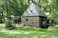 Nationaler Astra Museum in Sibiu - altes hölzernes watermill Lizenzfreie Stockfotos